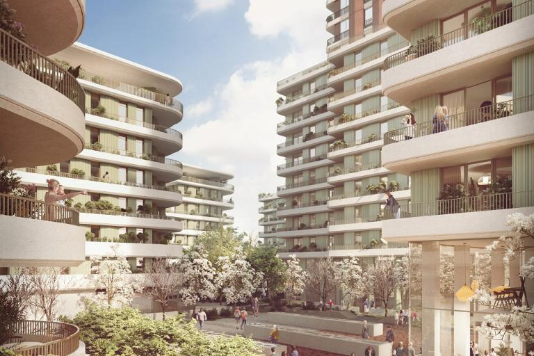 Architectural design for the new Ebury Bridge Estate