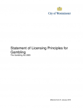 Statement of gambling principles