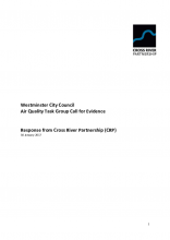 Cross River Partnership evidence for the Westminster council air quality task group (January 2017)