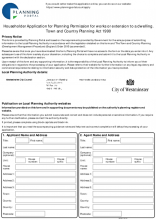 Householder Application for Planning Permission for works or extension to a dwelling