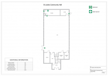 St Judes Community Hall floor plan