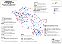 Map of ward and polling district boundaries - locations of polling stations