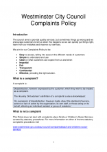 Corporate complaints policy