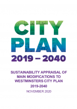 Westminster's City Plan 2019-2040 - Integrated impact assessment, addendum sustainability appraisal